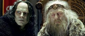 Gríma Wormtongue and King Théoden of Rohan